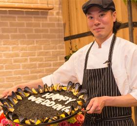 ドリンク・特製パエリア・ウェディングケーキ